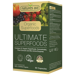 Natures Aid Organic Ultimate Superfoods - 60 Vegicaps