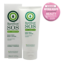 Barefoot SOS Daily Rich Body Lotion - Dry & Sensitive - 100ml