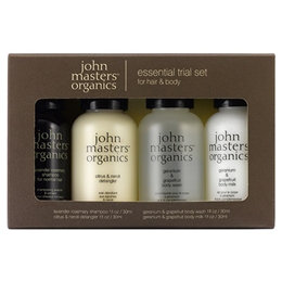 John Masters Organics Essential Trial Set - Hair & Body - 4 x 30ml