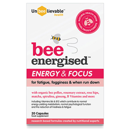 UnBEElievable Health Bee Energised - Energy & Focus - 20 Capsules