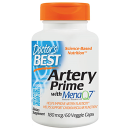 Doctors Best Artery Prime with MenaQ7 - 60 x 180mcg Vegicaps