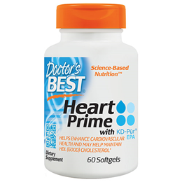 Doctors Best Heart Prime with KD-Pur EPA - 60 Softgels
