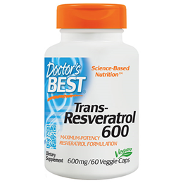 Doctors Best Trans-Resveratrol - 60 x 600mg Vegicaps