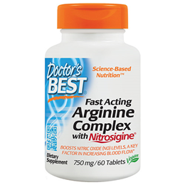 Doctors Best Fast Acting Arginine Complex - 60 x 750mg Tablets