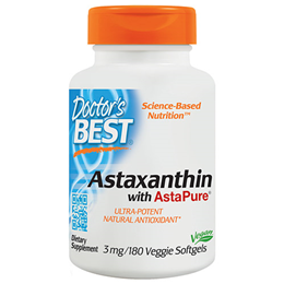 Doctors Best Astaxanthin with AstaPure - 180 x 3mg Softgels
