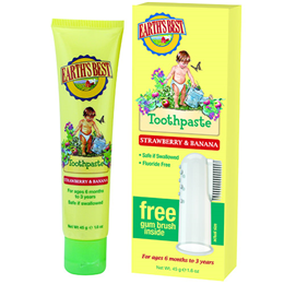 Jason Earth`s Best Strawberry & Banana Toothpaste + Free Gum Brush 45g