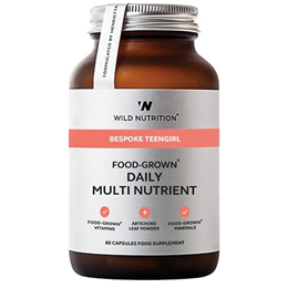 Wild Nutrition Food-Grown Teen Girl Daily Multi Nutrient - 60 Capsules