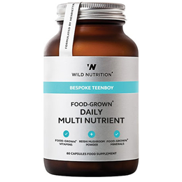 Wild Nutrition Food-Grown Teen Boy Daily Multi Nutrient - 60 Capsules