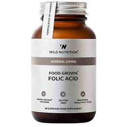 Wild Nutrition Food-Grown Folic Acid - 30 Capsules