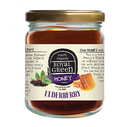 Royal Green Organic Honey with Elderberry - 250g