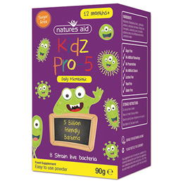 Natures Aid Kidz Pro-5 Daily Microbiotic - 90g Powder