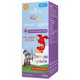 Natures Aid Kidz Immune Support - Blackcurrant Flavour - 150ml