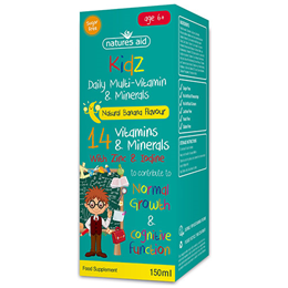 Natures Aid Kidz Multi-Vitamin & Minerals - Banana Flavour - 150ml