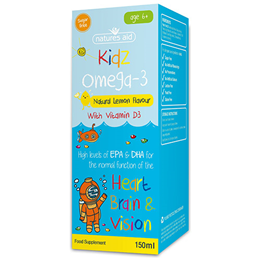 Natures Aid Kidz Omega-3 - Lemon Flavour - 150ml