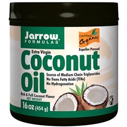 Jarrow Formulas Organic Extra Virgin Coconut Oil - 454g