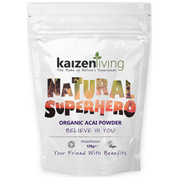 Kaizen Living Organic Acai Powder - 125g - Best before date is 31st March 2017