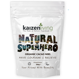 Kaizen Living Organic Cacao Nibs - 250g - Best before date is 31st December 2017
