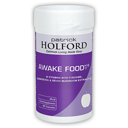 Patrick Holford Awake Food - Tyrosine - 60 Capsules - Best before date is 31st August 2019