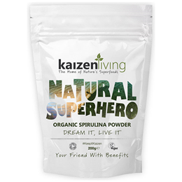 Kaizen Living Organic Spirulina Powder - 200g - Best before date is 28th February 2018