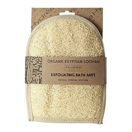 Hydrea London Organic Egyptian Loofah Mitt backed in Egyptian Cotton
