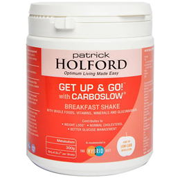 Patrick Holford Get Up and Go! Low GL Breakfast Shake - 300g Powder
