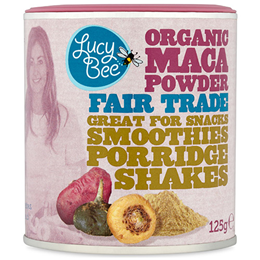 Lucy Bee Organic Maca Powder - 125g - Best before date is 31st May 2018