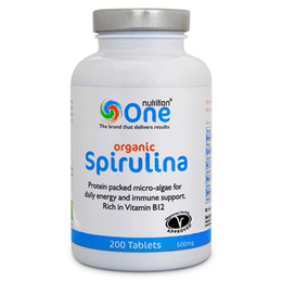 One Nutrition Organic Spirulina - 200 x 500mg Tablets