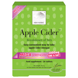 New Nordic Apple Cider Mega Strength - 30 x 1000mg Tablets