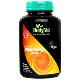 BodyMe Organic Super Energy - 180 x 500mg Capsules