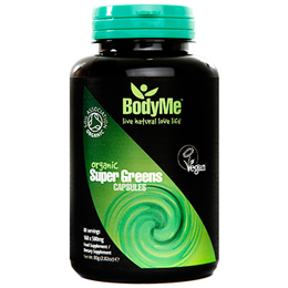 BodyMe Organic Super Greens - 160 x 500mg Capsules