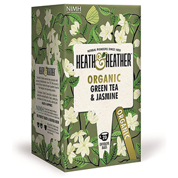 Heath & Heather Organic Green Tea & Jasmine - 20 Bags