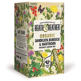 Heath & Heather Organic Dandelion, Burdock & Hawthorne - 20 Bags