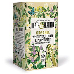 Heath & Heather Organic White Tea, Fennel & Peppermint - 20 Bags