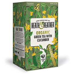 Heath & Heather Organic Green Tea & Cucumber - 20 Bags