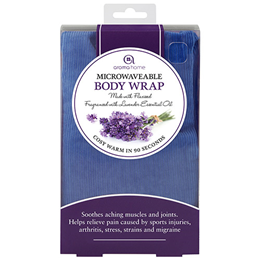 Aroma Home Soothing Body Wrap - Lavender Fragrance - Blue