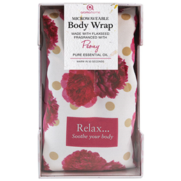 Aroma Home Microwaveable Floral Body Wrap - Peony