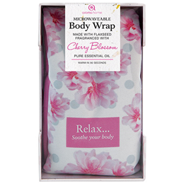 Aroma Home Microwaveable Floral Body Wrap - Cherry Blossom