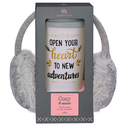 Aroma Home Travel Mug & Earmuffs - Grey