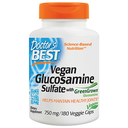 Doctors Best Vegan Glucosamine Sulfate - 180 x 750mg Vegicaps
