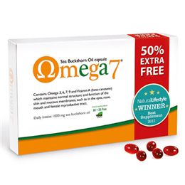 Pharma Nord Omega 7 - Sea Buckthorn Oil - 60 + 30 Capsules