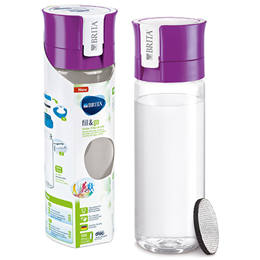 BRITA Fill & Go Vital - Water Bottle + 1 Micro Disc - Purple