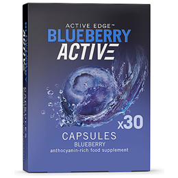 Active Edge BlueberryActive - 30 Capsules - Best before date is 30th September 2019