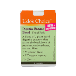 Udos Choice Digestive Enzyme Blend Travel Pack - 21 x 176mg Vegicaps