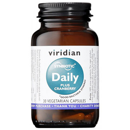 Viridian Synbiotic Daily Plus Cranberry - 30 Vegicaps