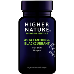 Higher Nature Astaxanthin & Blackcurrant - 90 x 2mg Vegicaps