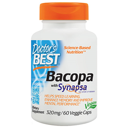 Doctors Best Bacopa with Synapsa - Memory - 60 Vegicaps
