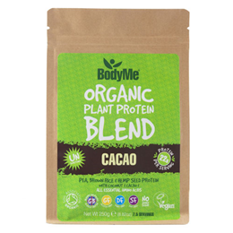 BodyMe Organic Vegan Protein Powder Blend - Raw Cacao - 250g