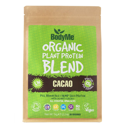 BodyMe Organic Vegan Protein Powder Blend - Raw Cacao - 1kg