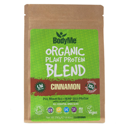 BodyMe Organic Vegan Protein Powder Blend - Raw Cinnamon - 250g