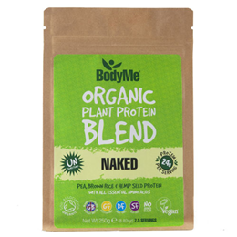 BodyMe Organic Vegan Protein Powder Blend - Naked Natural - 250g